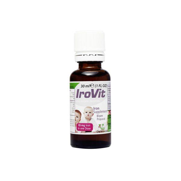 قطره آیروویت حاوی آهن و روی و فولیک اسید و ویتامین B12