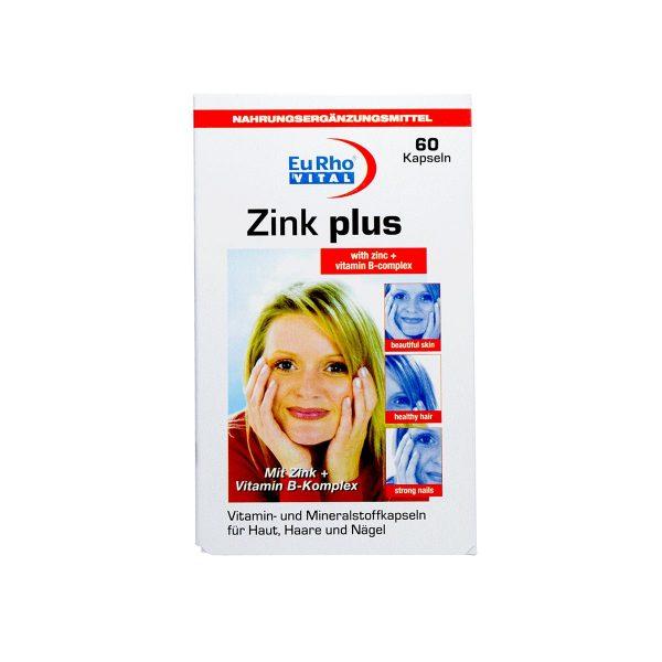 کپسول-زینک-پلاس-5-میلی-گرم-یوروویتال-حفظ-سلامت-پوست،-مو،-ناخن-و-سیستم-ایمنی