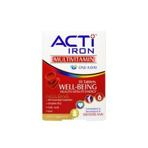 قرص اکتی آیرون لیبرتی سوئیس 30 عدد مولتی ویتامین جهت جلوگیری از کم خونی