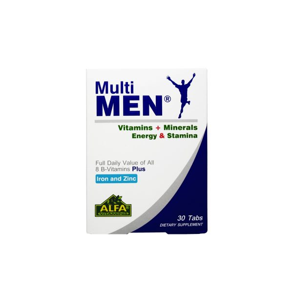 قرص مولتی من آلفا ویتامینز 30 عدد افزایش انرژی و استقامت و رفع خستگی مخصوص آقایان