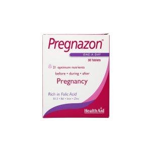 قرص پرگنازون هلث اید 30 عدد تامین مواد مغذی مورد نیاز روزانه مادران باردار و شیرده