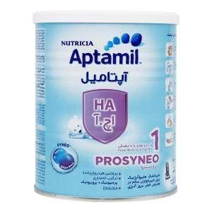شیر خشک آپتامیل اچ آ 1 نوتریشیا 400 گرم شیر خشک ضد آلرژی مناسب از بدو تولد