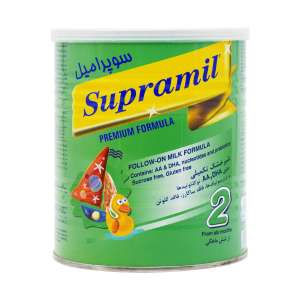 شیر خشک سوپرامیل 2 فاسکا 400 گرم شیرخشک مناسب از 6 تا 12 ماهگی