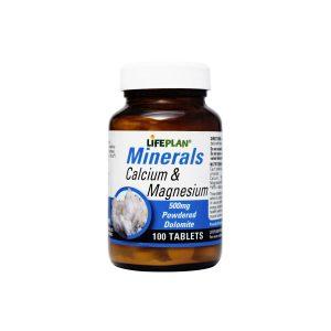 قرص مینرال کلسیم و منیزیم لایف پلن 100 عدد تقویت سلامت استخوان ها و تامین مواد معدنی مورد نیاز بدن