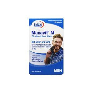 کپسول ماکاویت ام یورو ویتال 60 عدد افزایش انرژی و قوای جنسی آقایان
