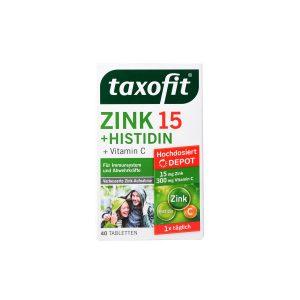 قرص زینک 15 همراه هیستیدین تاکسوفیت 40 عدد تقویت سیستم ایمنی و بهبود سلامت پوست و مو