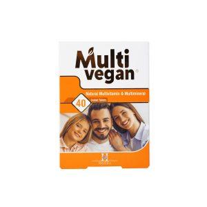 قرص مولتی وگان هولیستیکا 40 عدد مولتی ویتامین و مینرال و بهبود دهنده سلامت عمومی بدن