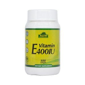 سافت ژل ویتامین E 400 آلفا ویتامینز 100 عدد