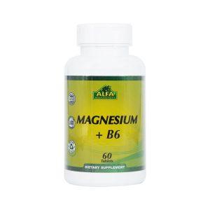 قرص منیزیم و ویتامین B6 آلفا ویتامینز 60 عدد