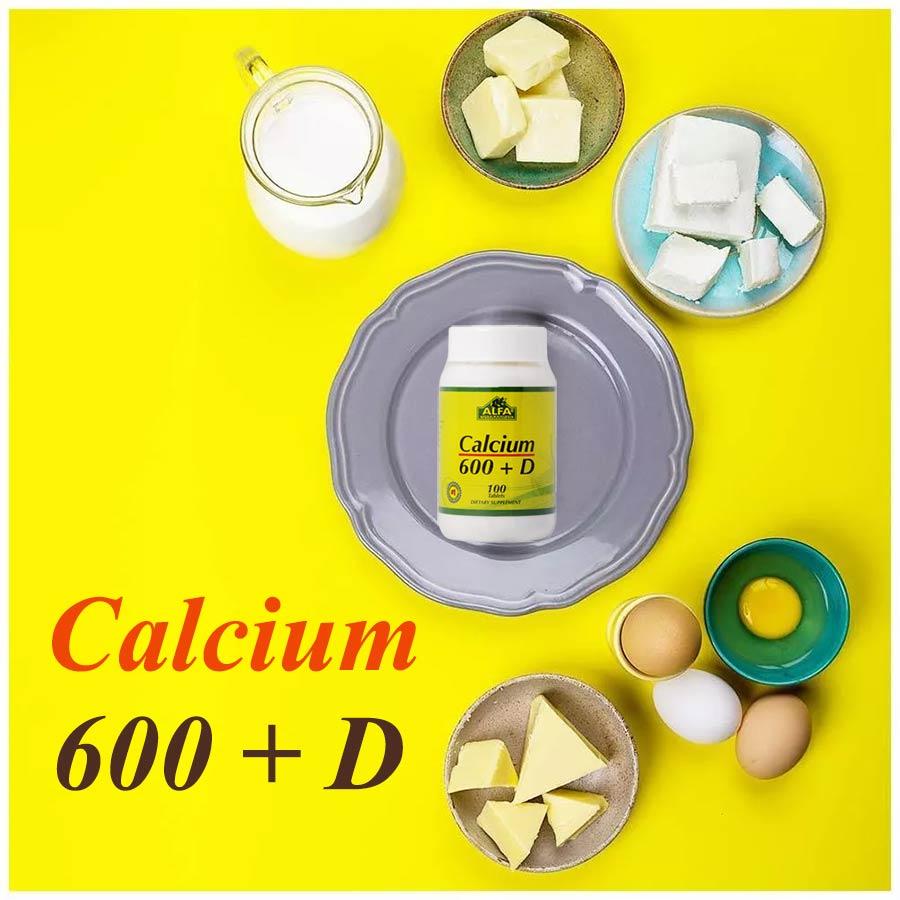 قرص کلسیم دی 600 آلفا ویتامینز