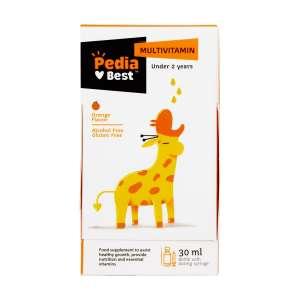 قطره مولتی ویتامین با طعم پرتقال پدیابست 30 میلی لیتر