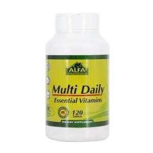 قرص مولتی دیلی آلفا ویتامینز 120 عدد