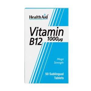 قرص ویتامین B12 1000 میکروگرم هلث اید 50 عدد