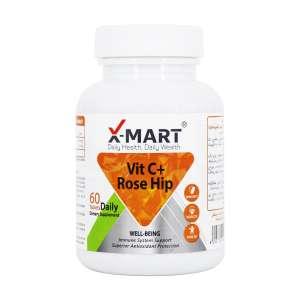 قرص ویتامین C و رز هیپ ایکس مارت 60 عدد