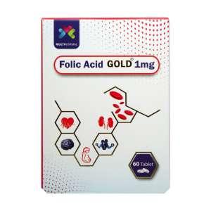 قرص فولیک اسید گلد 1 میلی گرم مولتی نرمال 60 عدد