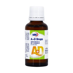 قطره ویتامین آ د یورو ویتال | 30 میلی لیتر |سلامت استخوان کودک